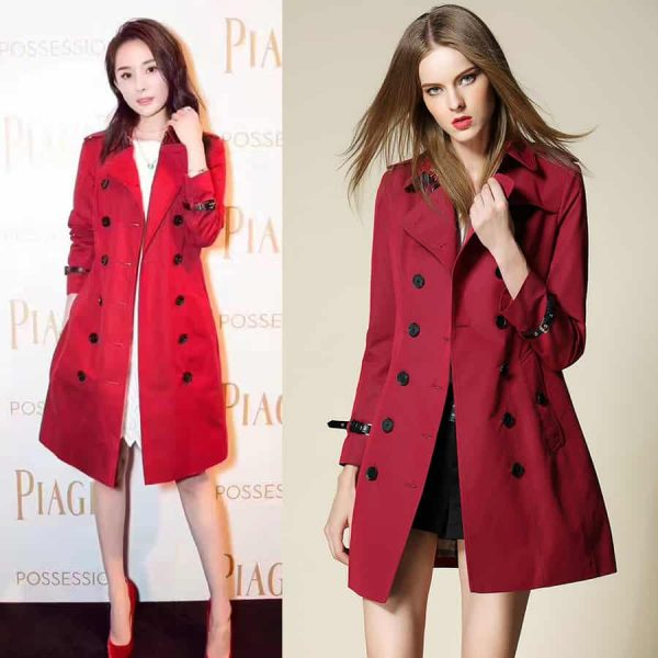 Women's coat, spring and autumn, with belt. 5066-1