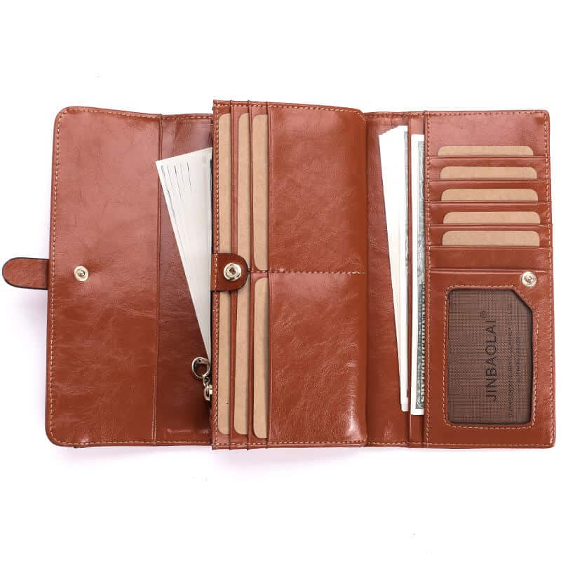 Men's leather wallet, long section leather RFID.2002#-3