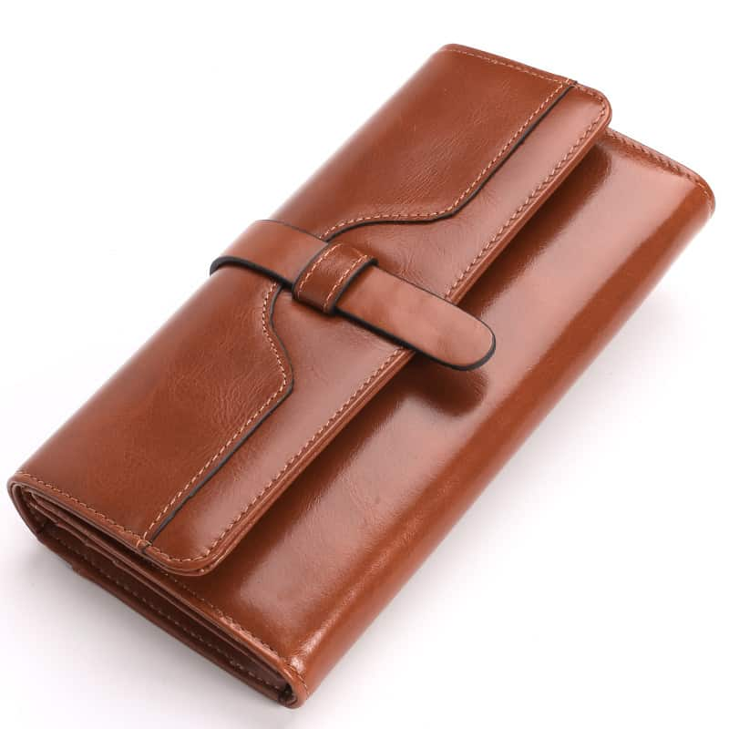 Men's leather wallet, long section leather RFID.2002#-6