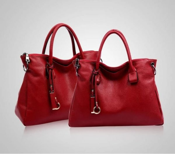Women's leather handbag, elegant, large luxury handbag. 3069-1