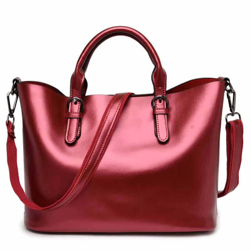 Women's leather handbag, elegant, large luxury handbag. 3069-17