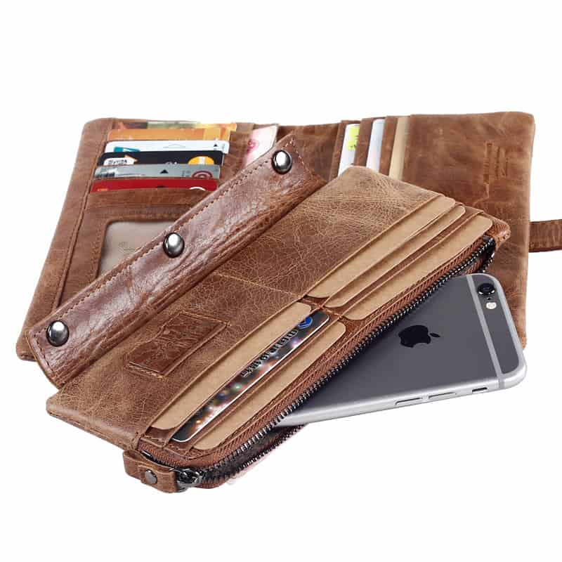 Men's leather wallet, multi-functional first coat of cow skin.8107-3-4