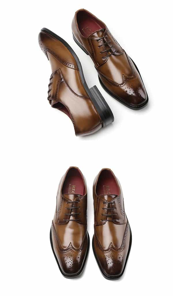 Men's leather shoes, business designed shoes, high quality leather. 3210-6-11