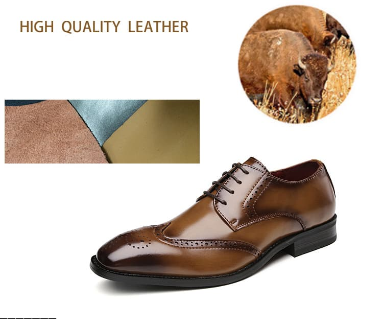 Men's leather shoes, business designed shoes, high quality leather. 3210-6-17