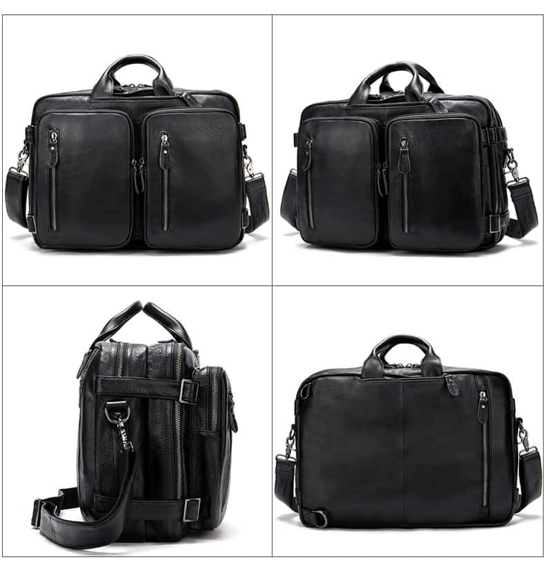 Men's bag, leather business laptop bag, shoulder slung briefcase. n433-3