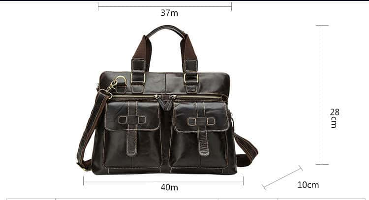 Men's leather crossbody bag, retro leather shoulder Messenger bag.n261-10