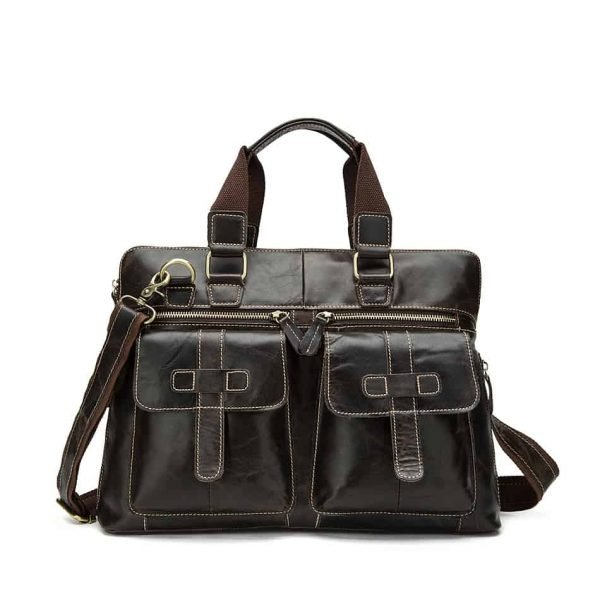 Men's leather crossbody bag, retro leather shoulder Messenger bag.n261