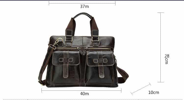 Men's leather crossbody bag, retro leather shoulder Messenger bag.n261-7
