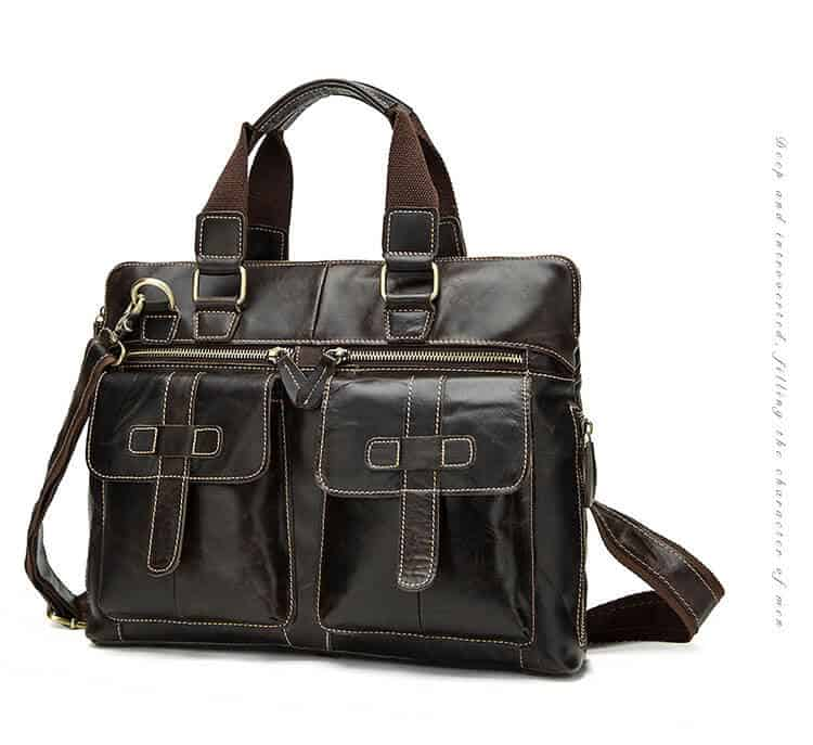 Men's leather crossbody bag, retro leather shoulder Messenger bag.n261-9