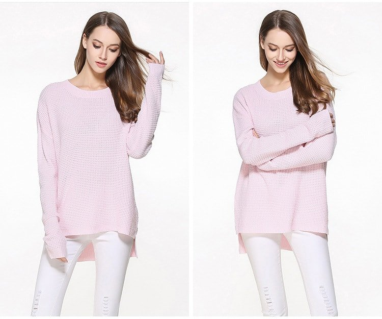 Women's sweater, large size thin sweater, loose pullover.YH-0607048-3