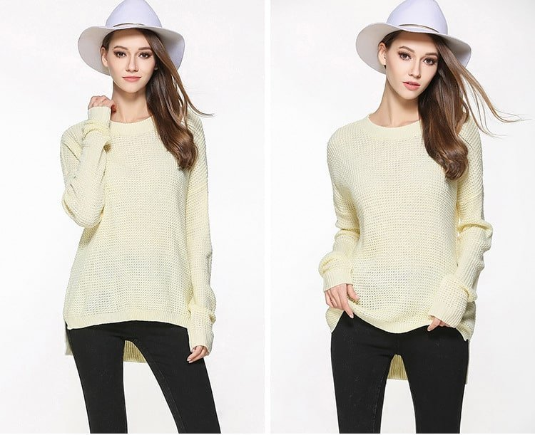 Women's sweater, large size thin sweater, loose pullover.YH-0607048-5