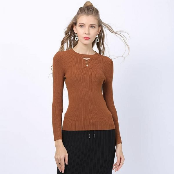 Women's sweater, new bottoming shirt round neck sweater.S8133-1