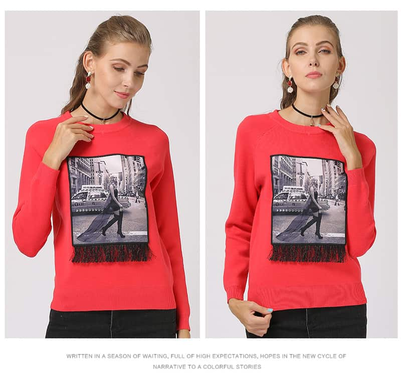 womens-sweater-round-neck-long-sleeves-slimming-sweater-9137-red